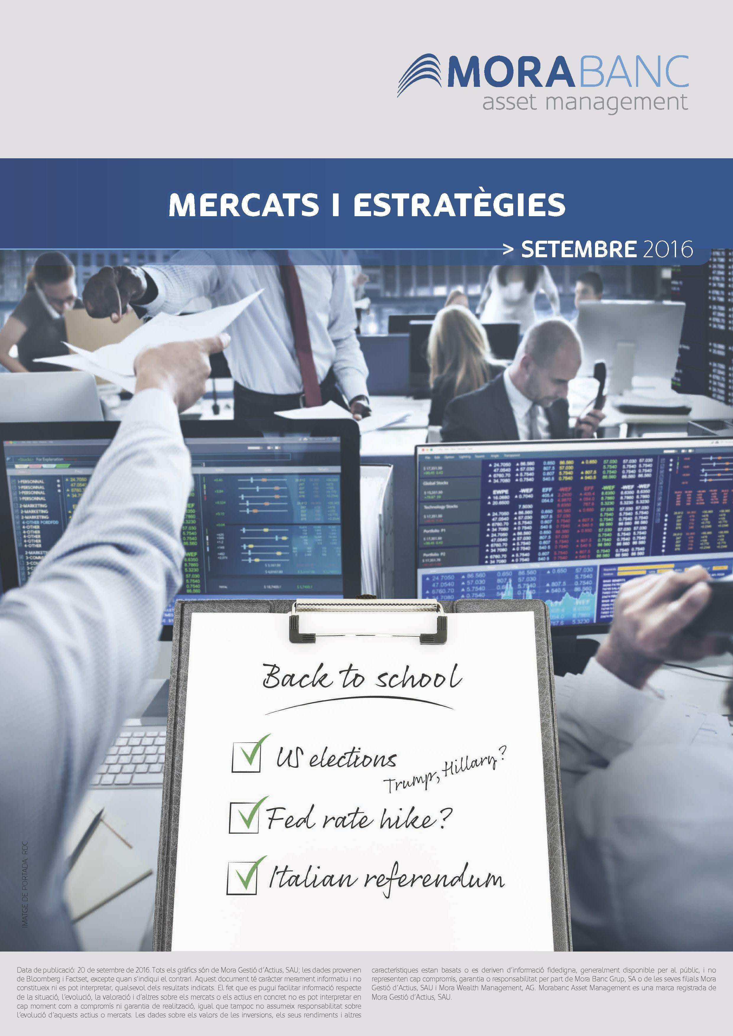 Mercats i Estratègies Setembre 2016